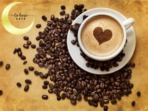 cup of coffe coffee beans 300x225